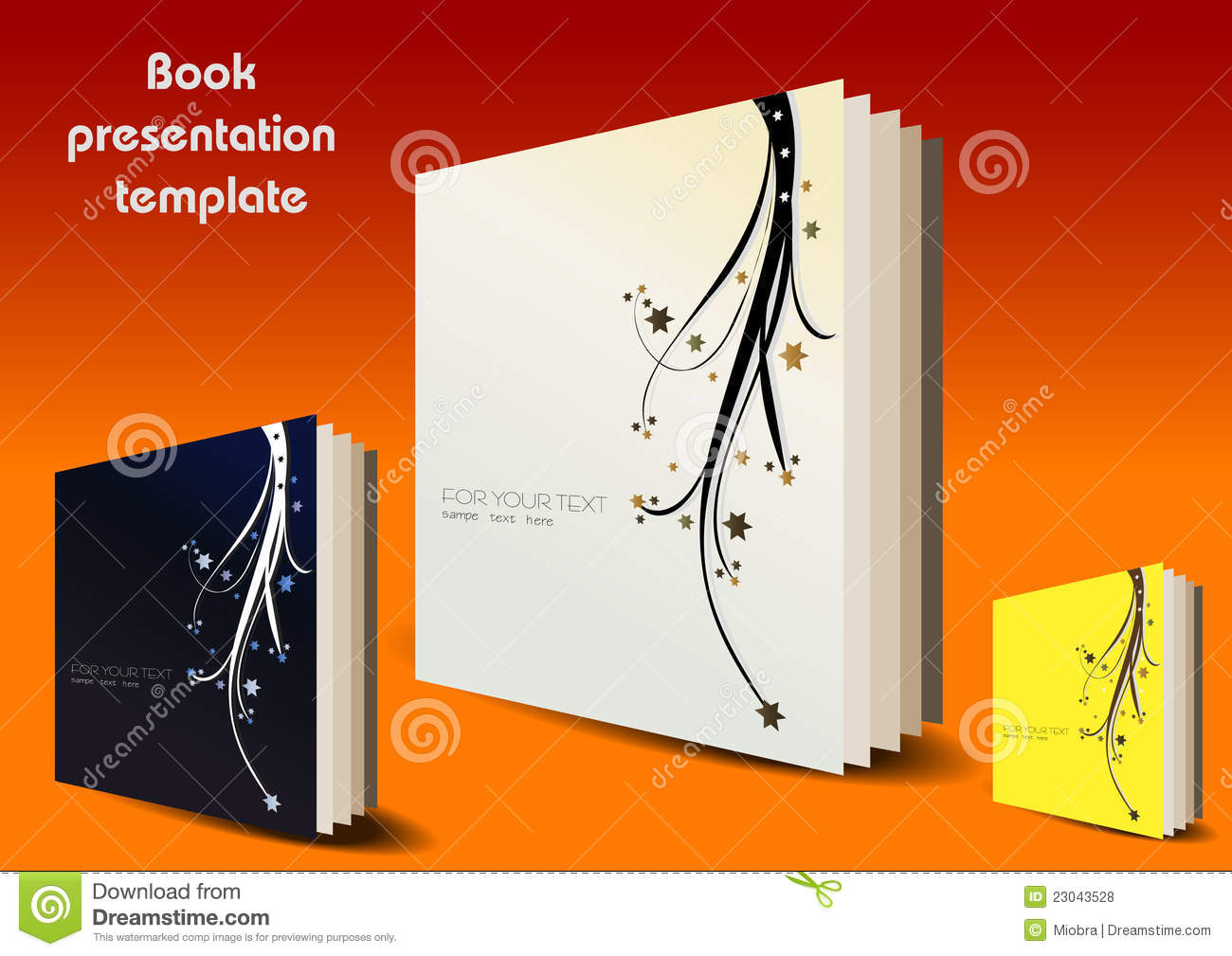 book presentation template stock vector  illustration of