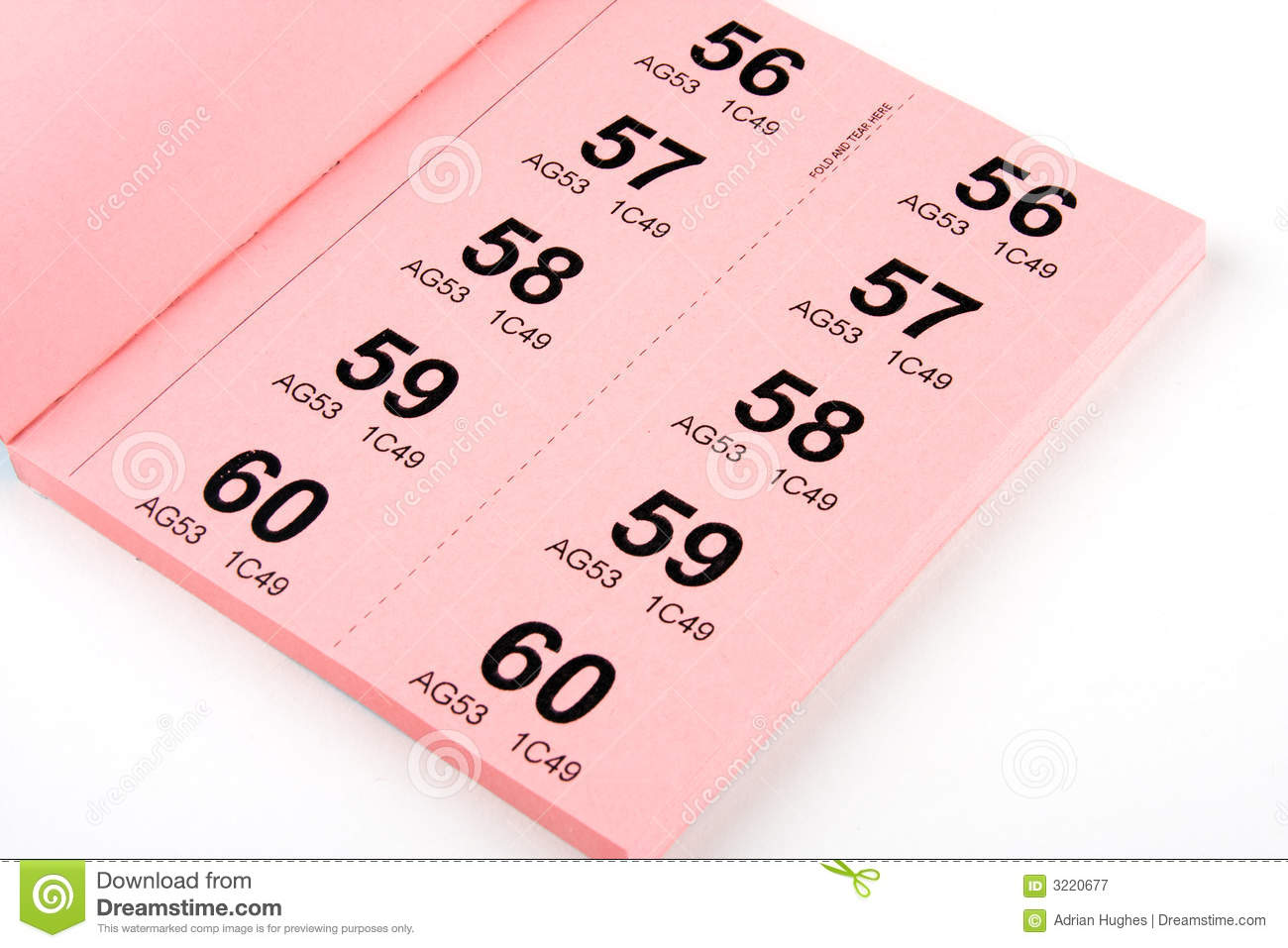 book of raffle tickets royalty stock photography image  book of raffle tickets