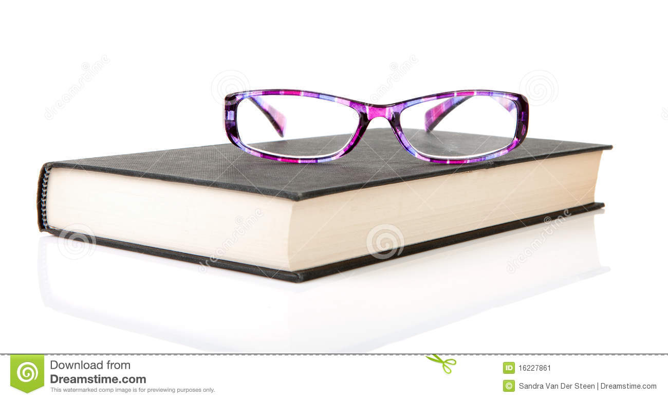 glasses on book - photo #35