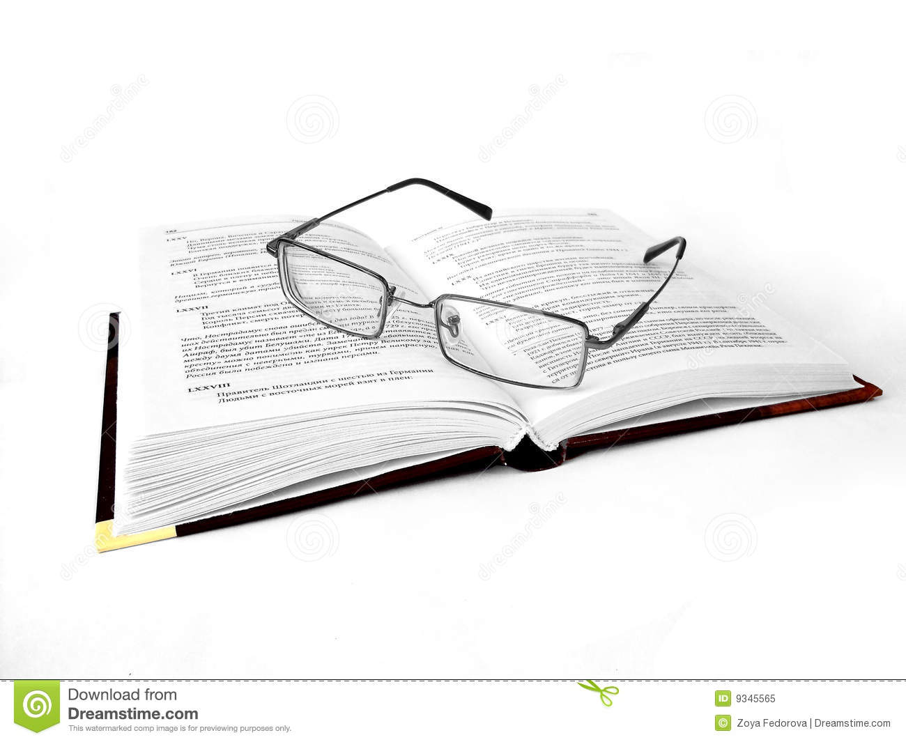glasses on book - photo #45