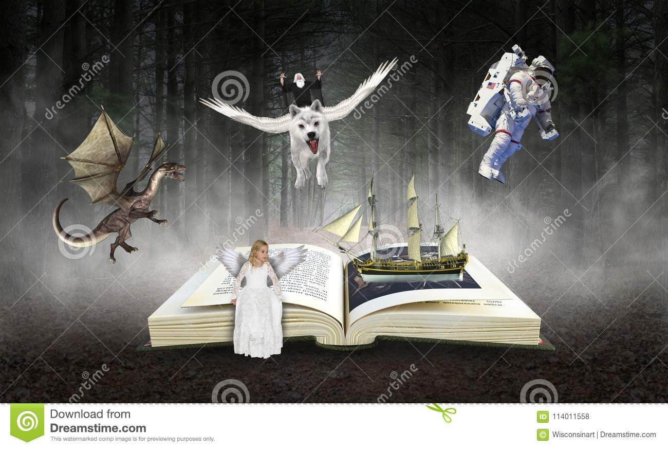Book, Reading, Imagination, Storybook, Stories