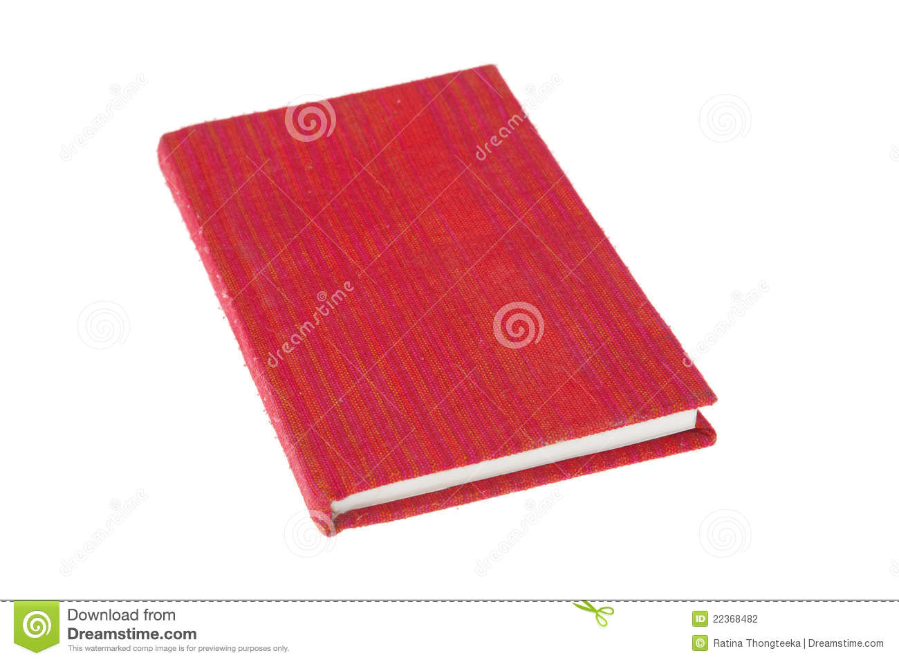 Cookbook With Red Cover : Book red cover fabric stock photography image