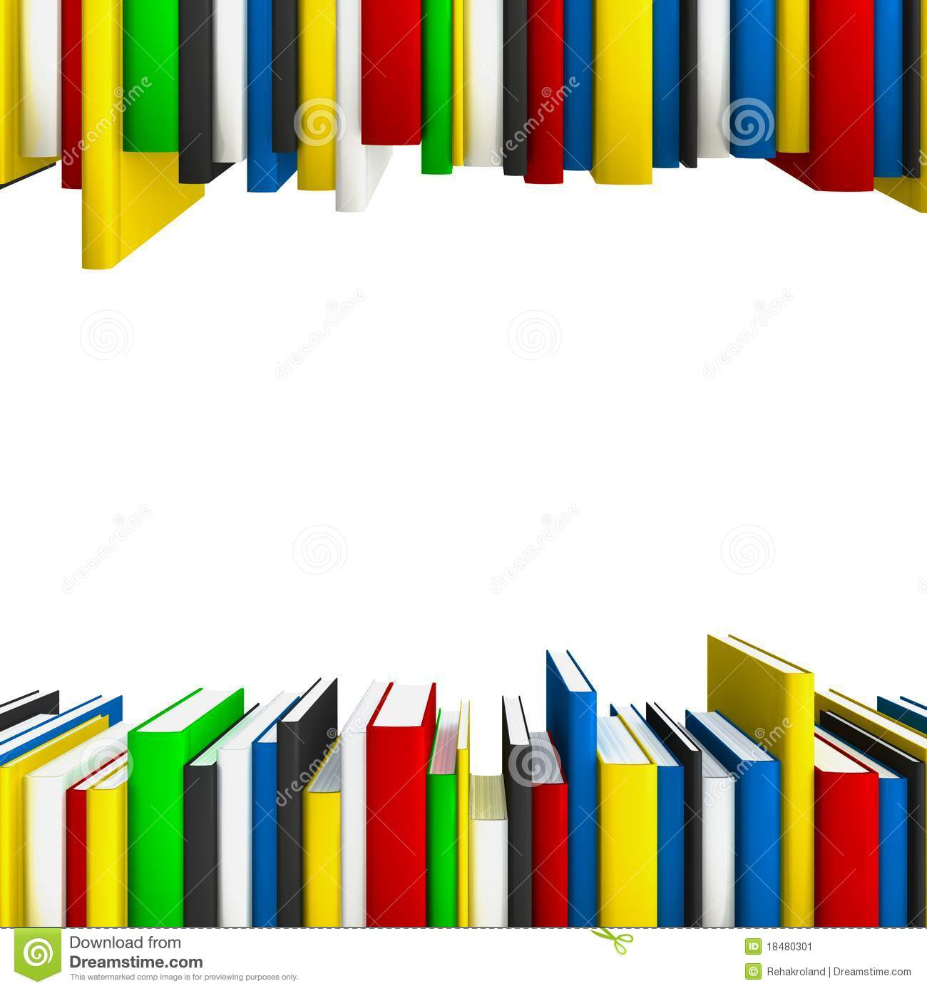 Book Rows As Frame Stock Image - Image: 18480301