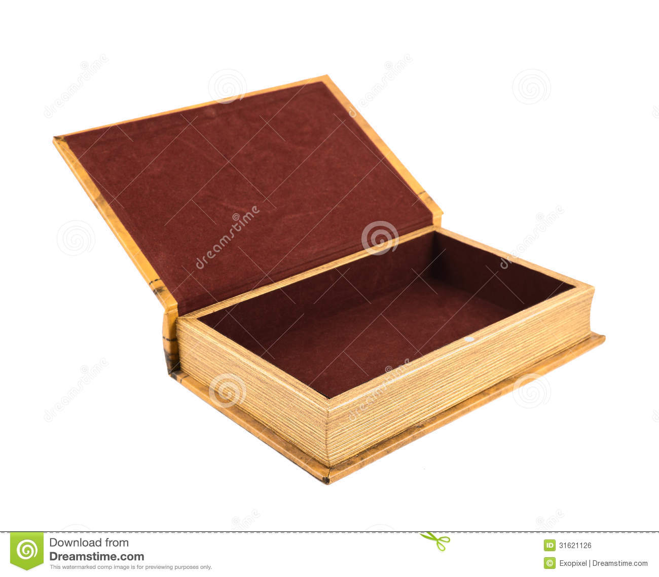 Book Shaped Casket Or Jewelry Box Isolated Stock Photo Image of