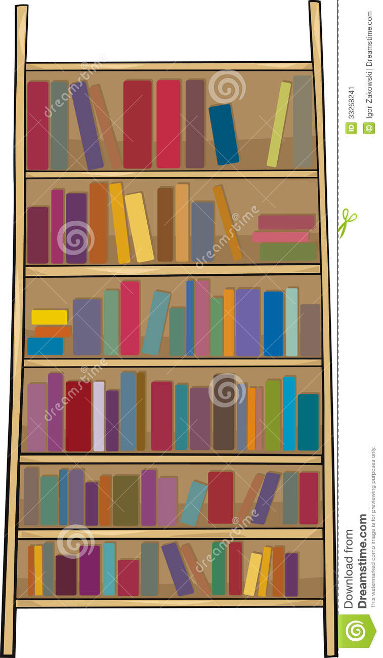 Book Shelf Clip Art Cartoon Stock Illustrations 103 Vectors Clipart
