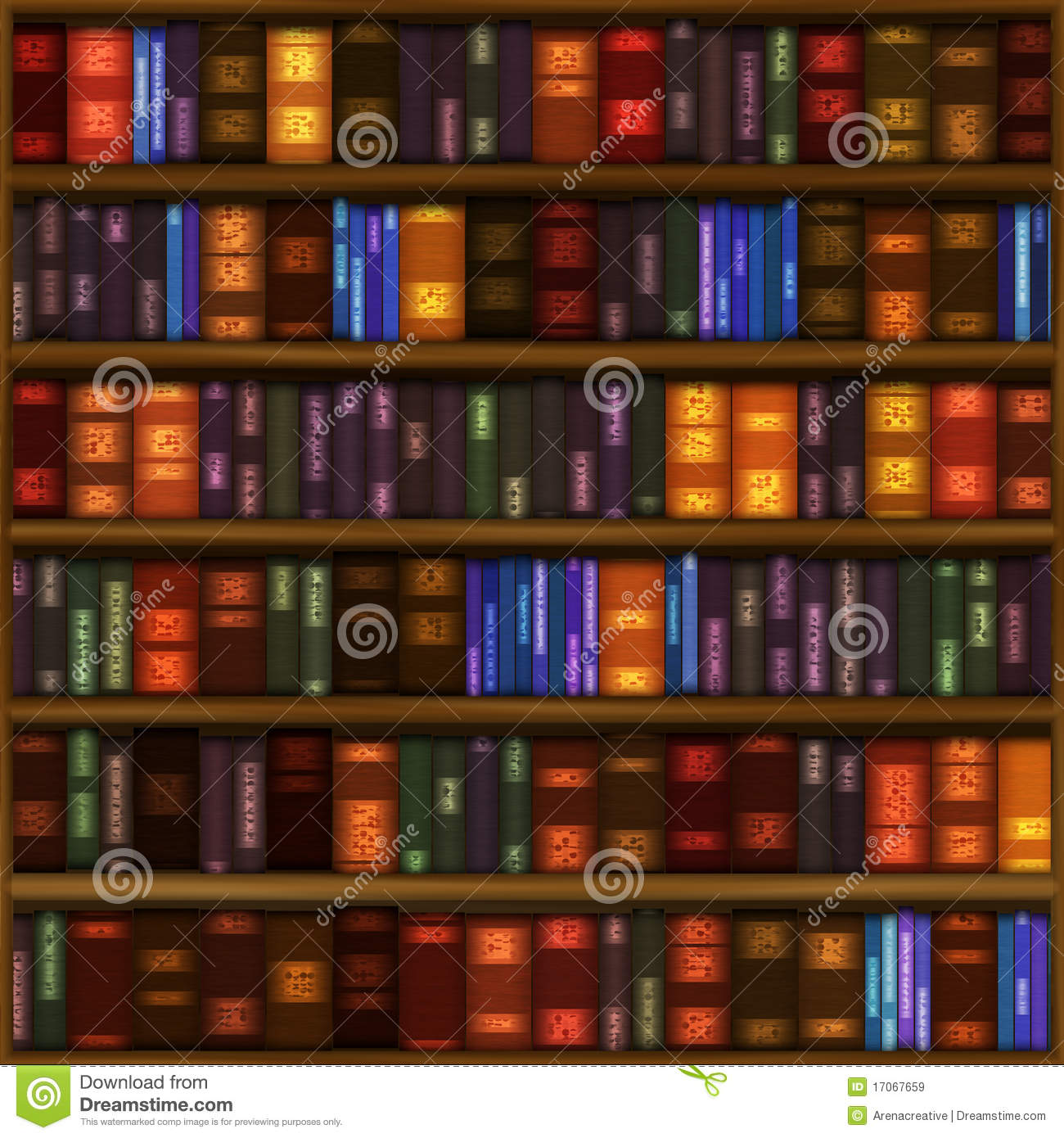 Book Shelf Pattern Stock Illustration Of Education
