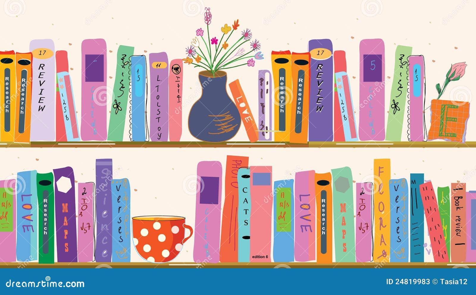 Library Bookshelf Clipart Book Shelves At Home S...