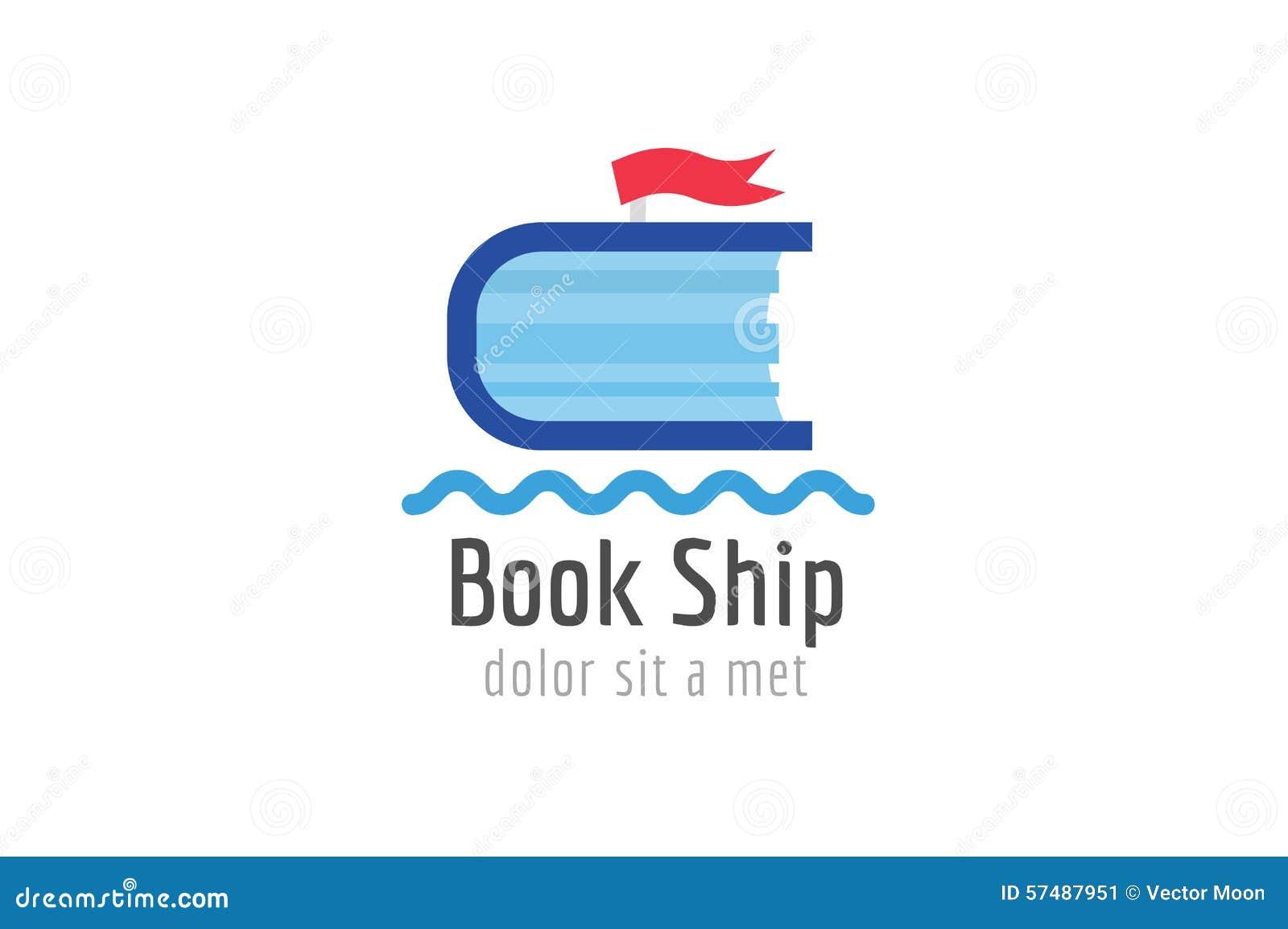 Book Ship Template Logo Icon. Back To School Stock Vector ...