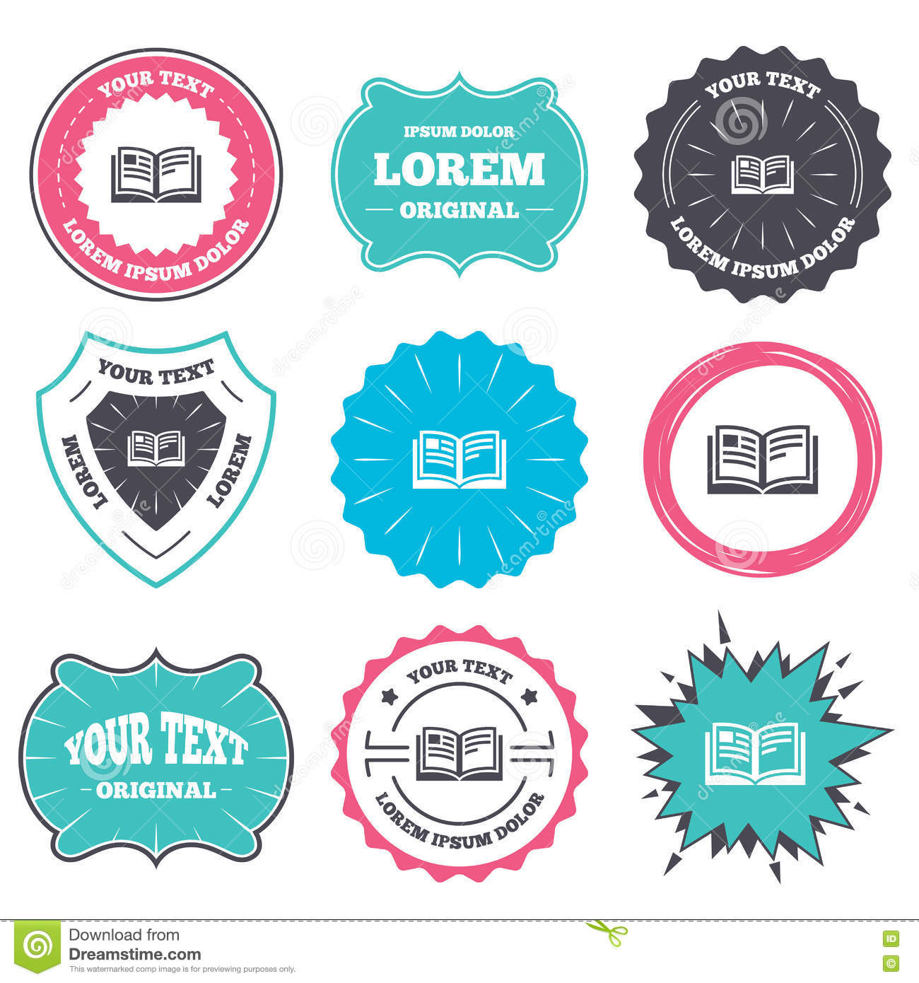book sign icon. open book symbol. stock vector - illustration of