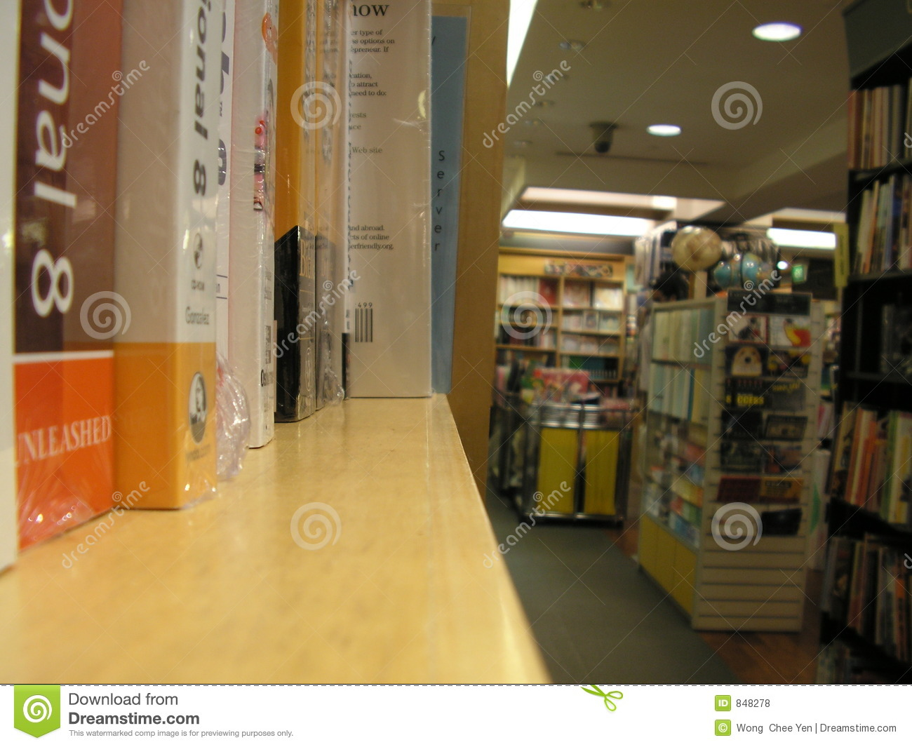 Book store and shelf