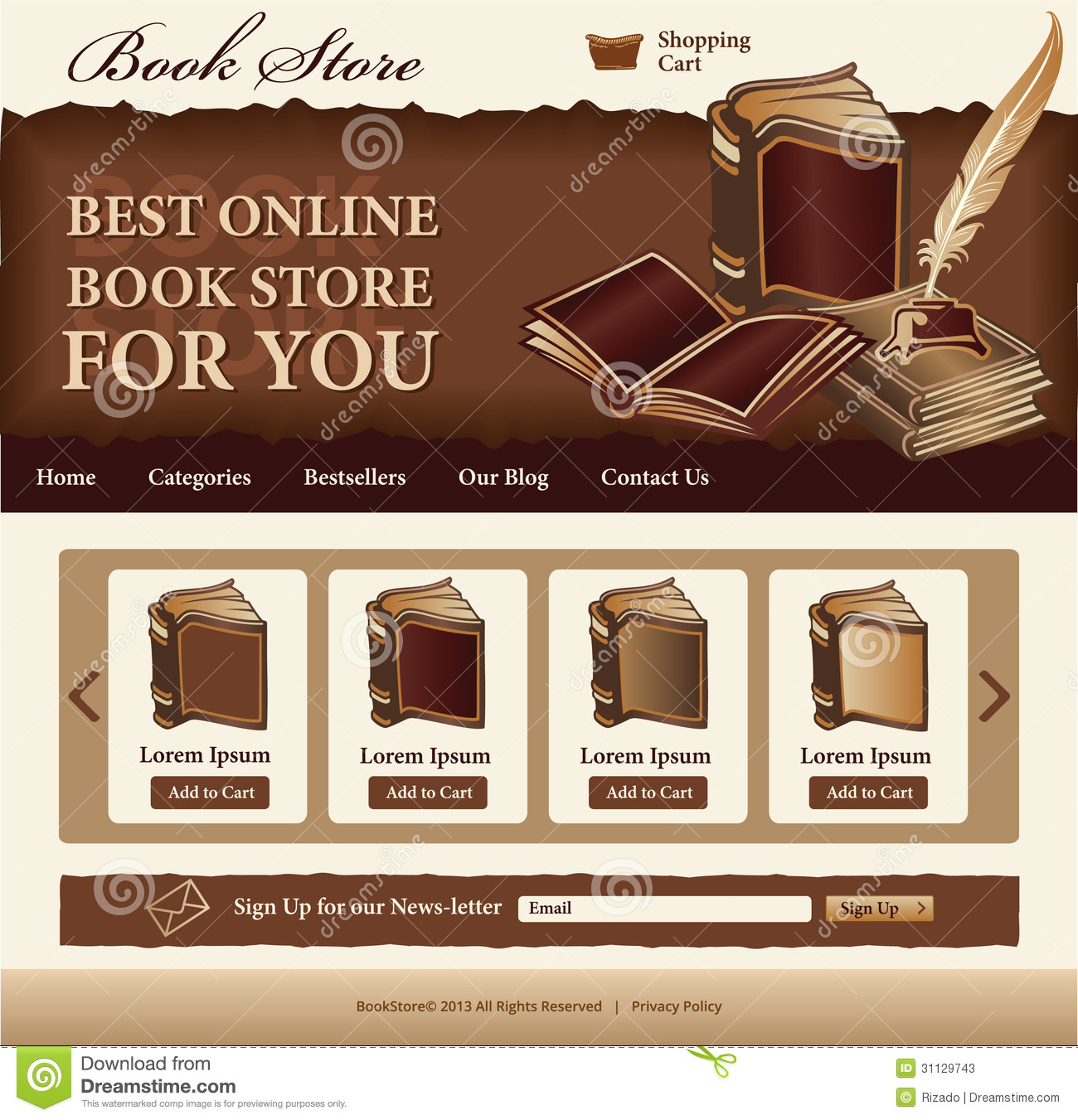 book store template stock photos image 31129743. Black Bedroom Furniture Sets. Home Design Ideas