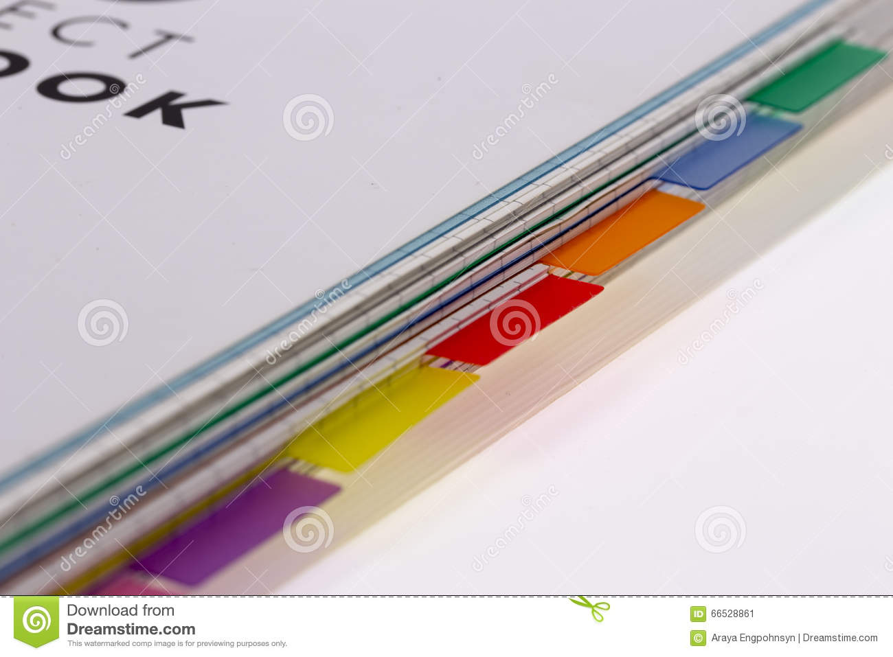 book tabs divider stock photo