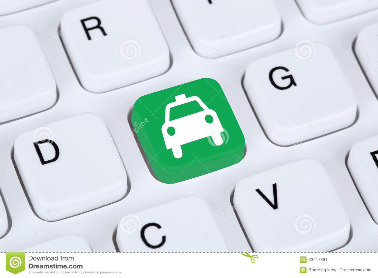 Book A Taxi Or Cab Online Internet Booking Computer Stock Photo ...