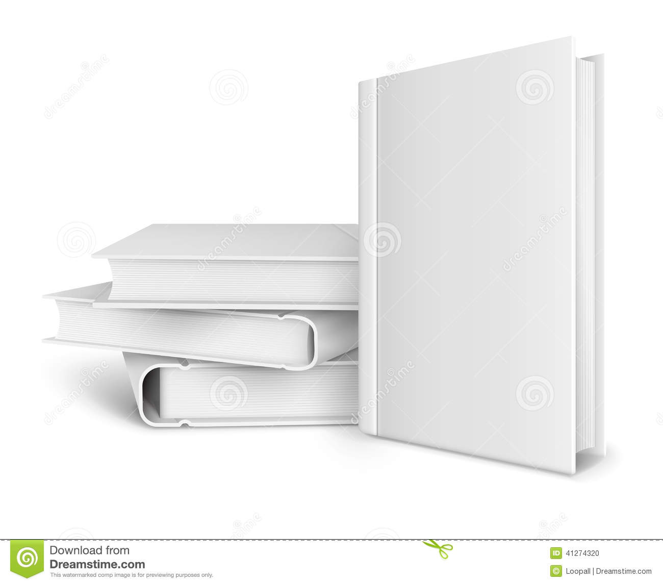 book cover template illustrator - book template with blank cover and pile of books stock