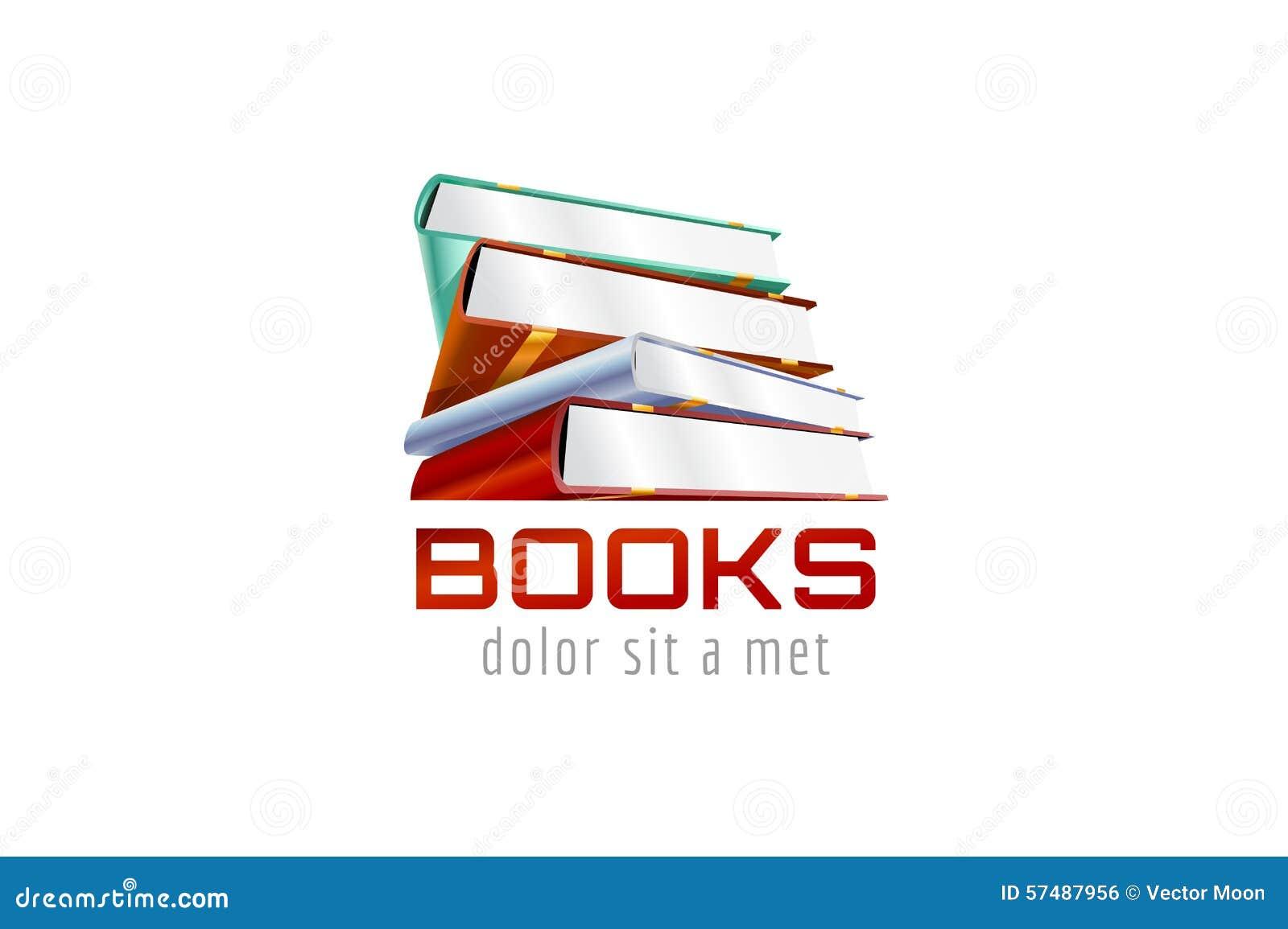 Book Template Logo Icon Back To School Education Stock Vector