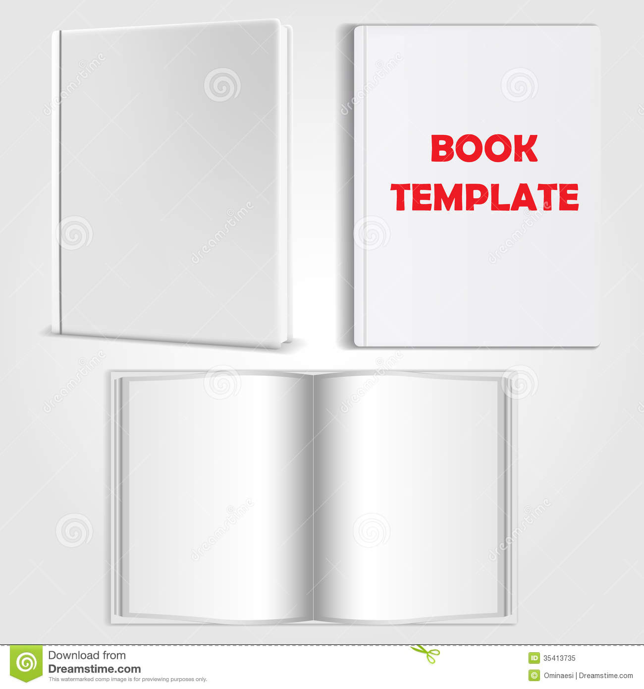 Book Template Vector Royalty Free Stock Photo - Image: 35413735