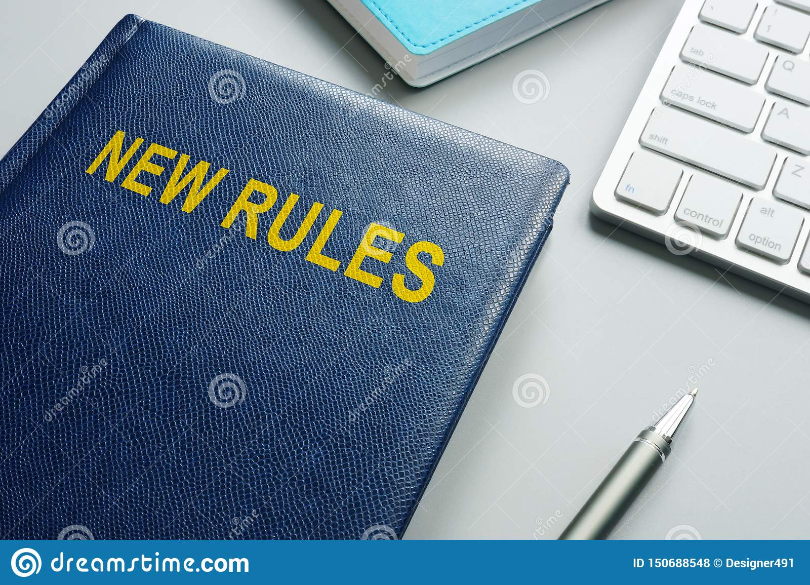 Book with title New rules and regulations