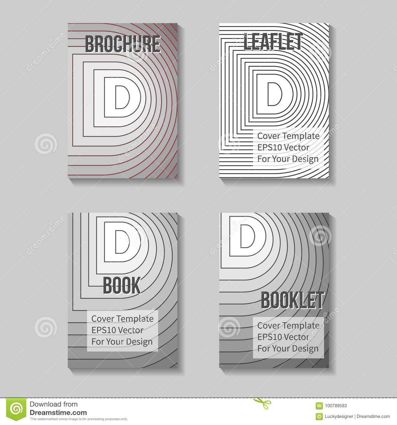 book title page template  business report cover stock illustration