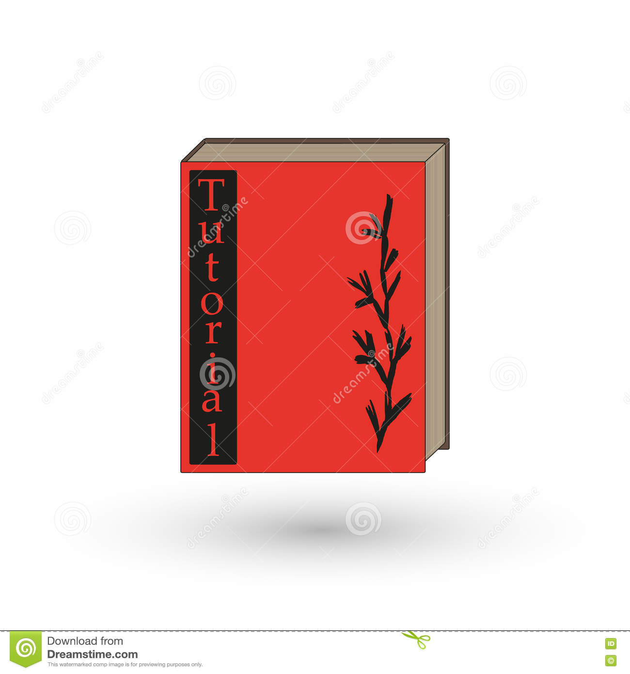 Nhs Red Book Cover Tutorial : Book or tutorial with the red cover stock vector image