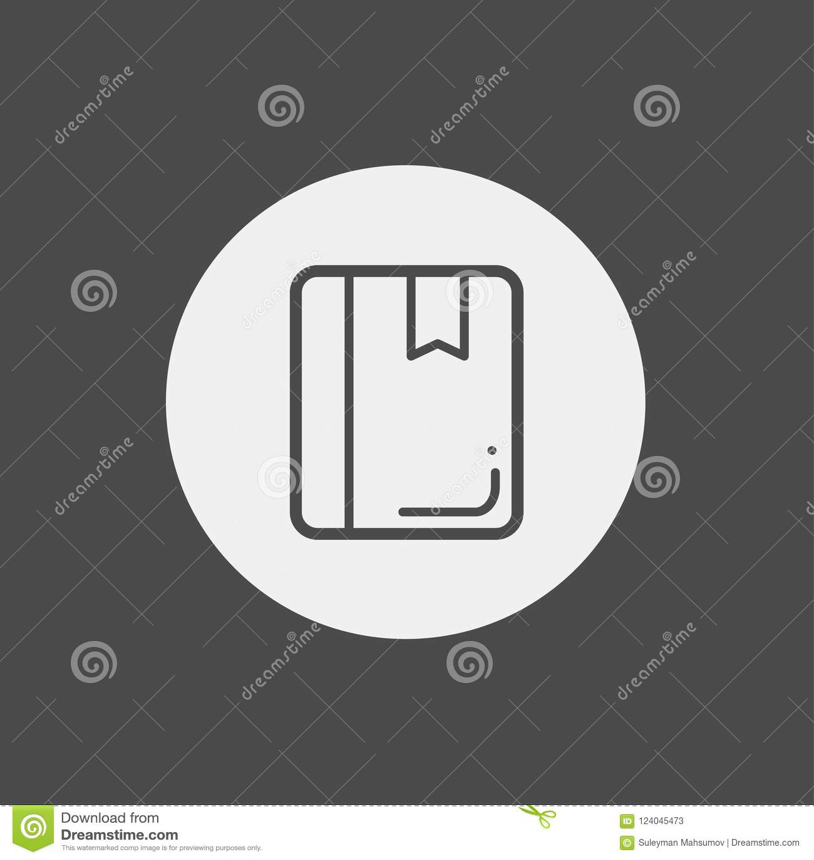 Book Vector Icon Sign Symbol Stock Vector - Illustration of creative ...