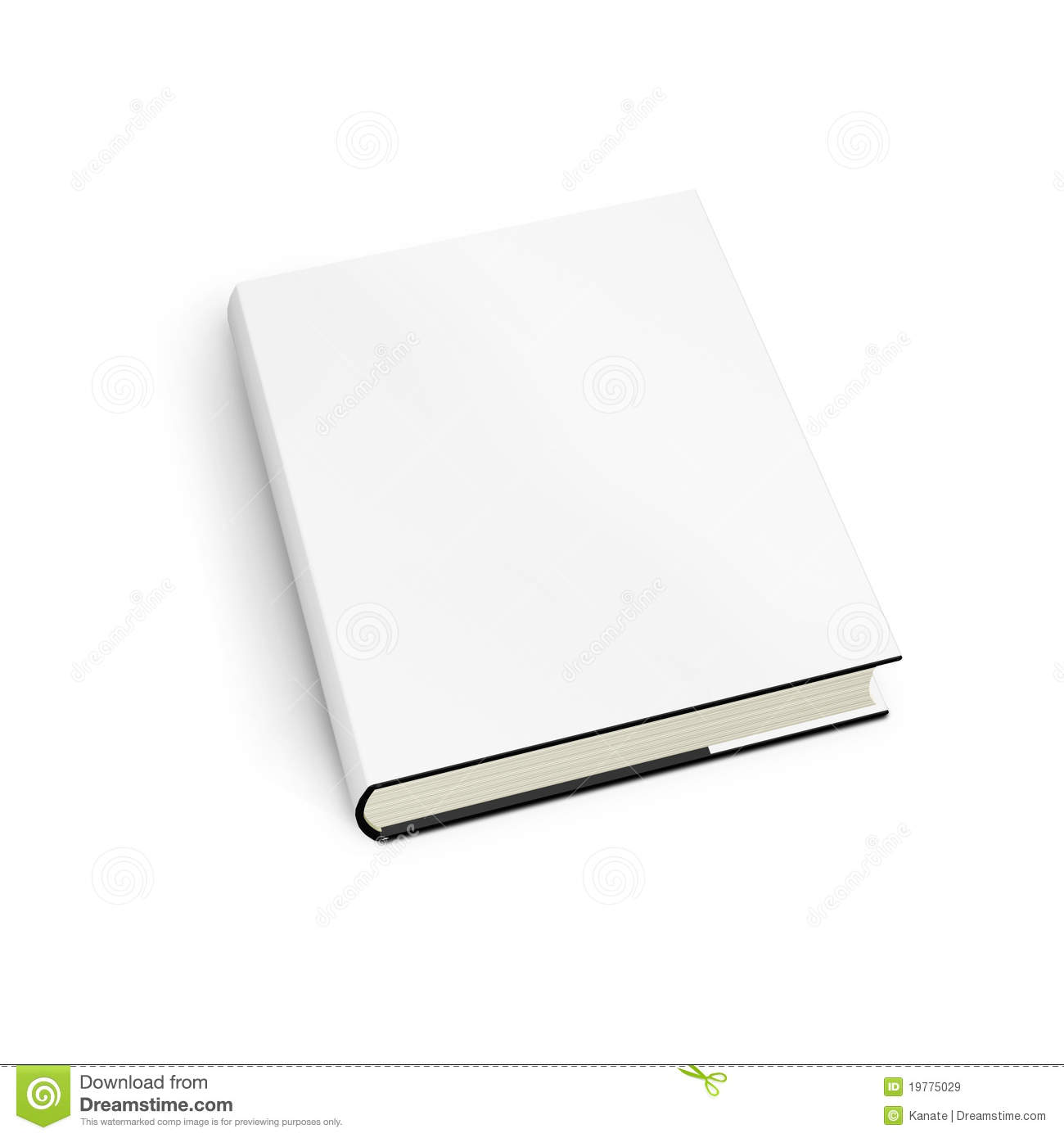 Book Cover White Background : Book with white cover on background royalty free