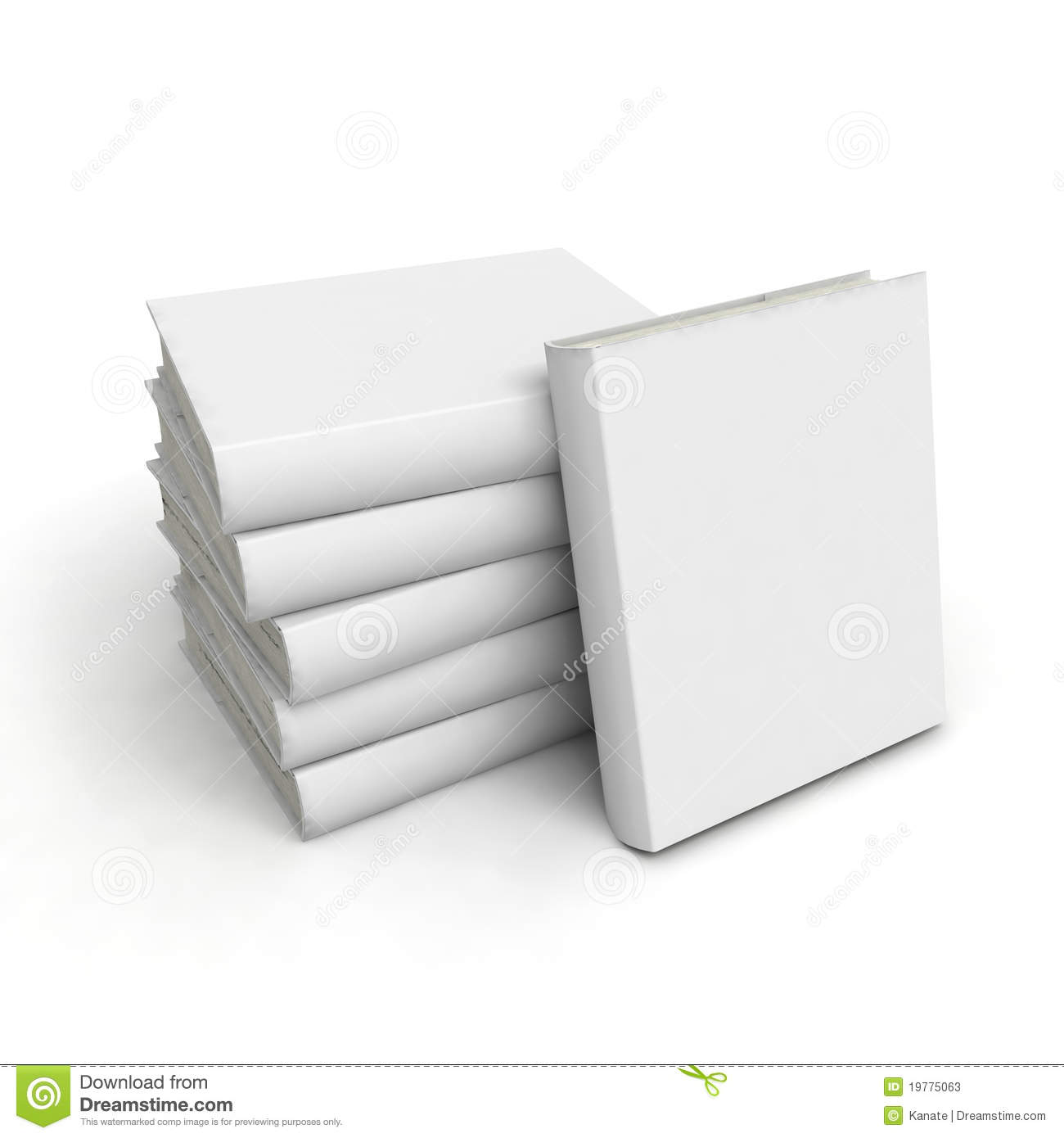 Book Cover White Background : Book with white cover on background stock photos