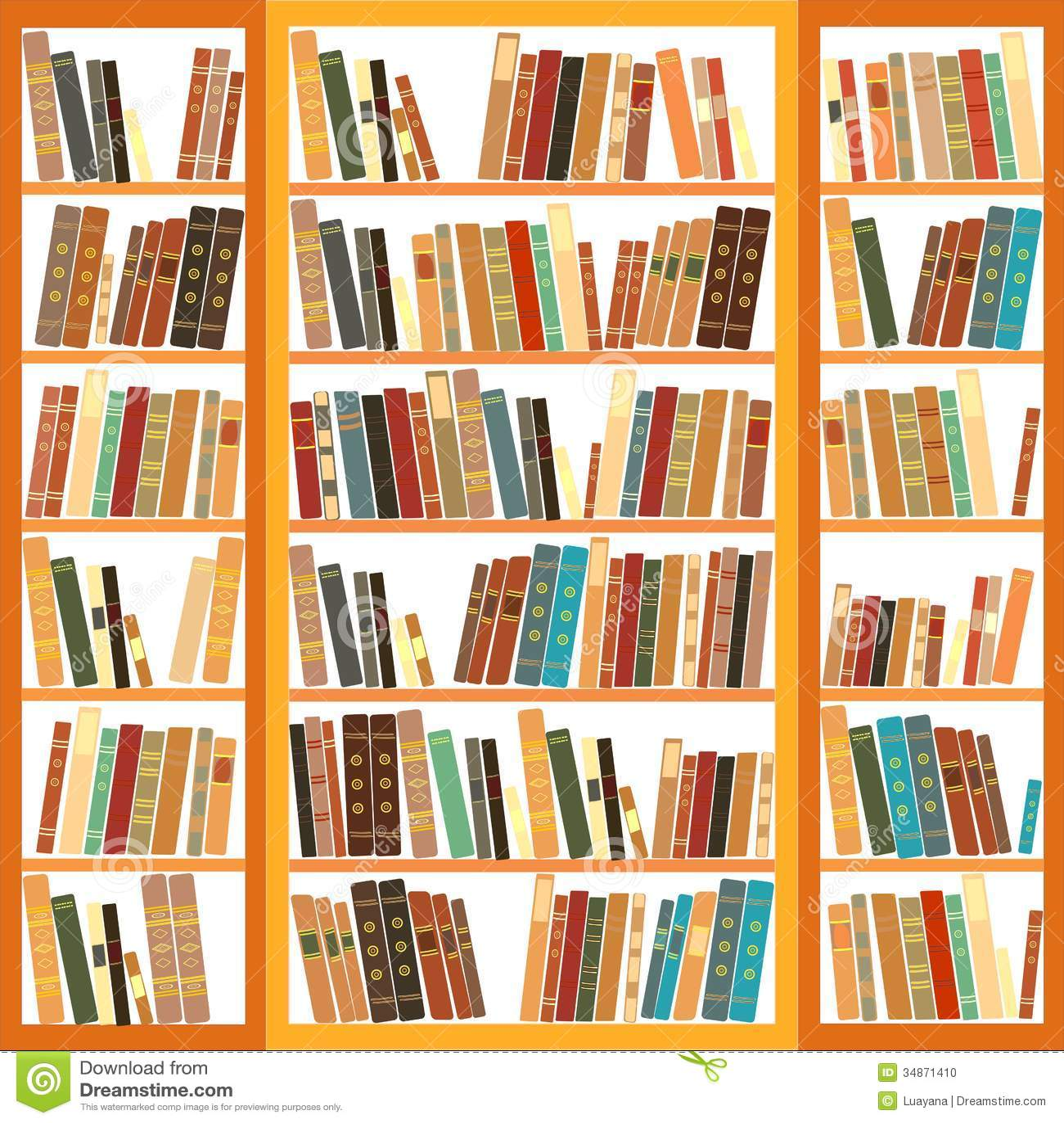 Bookshelf With Books ~ Bookcase full of books stock photo image classic