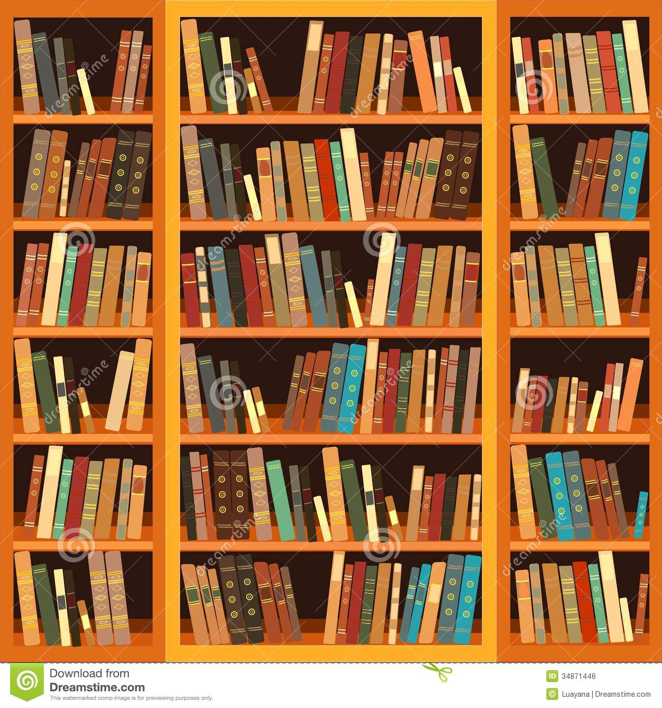 bookcase full of books royalty free stock image image