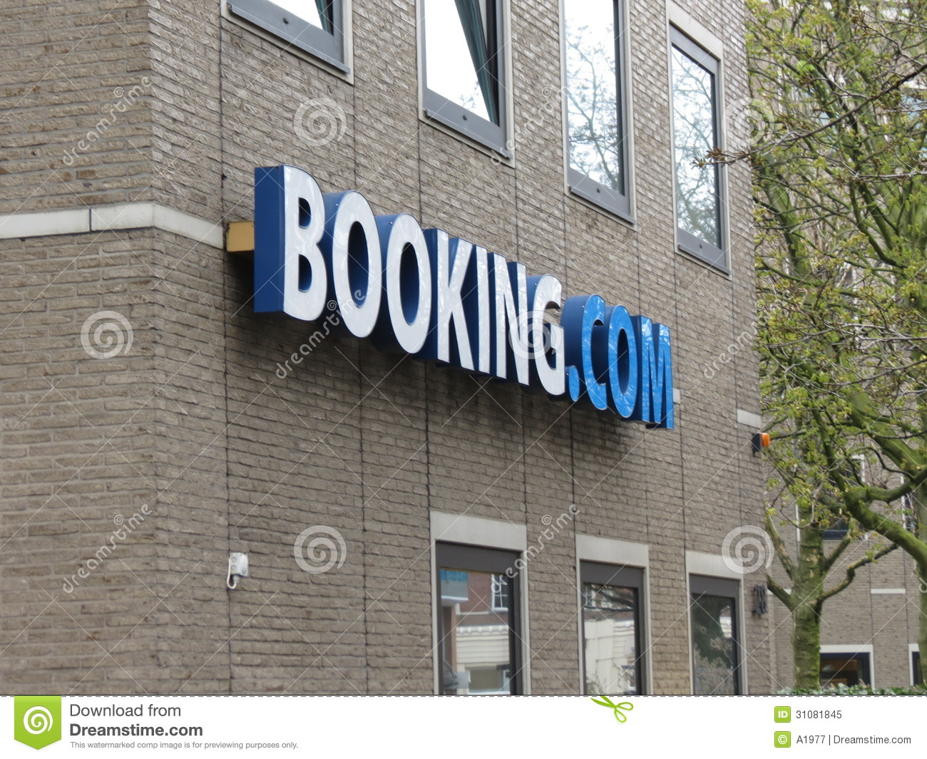 Logo On Their Headoffice Amsterdam Editorial