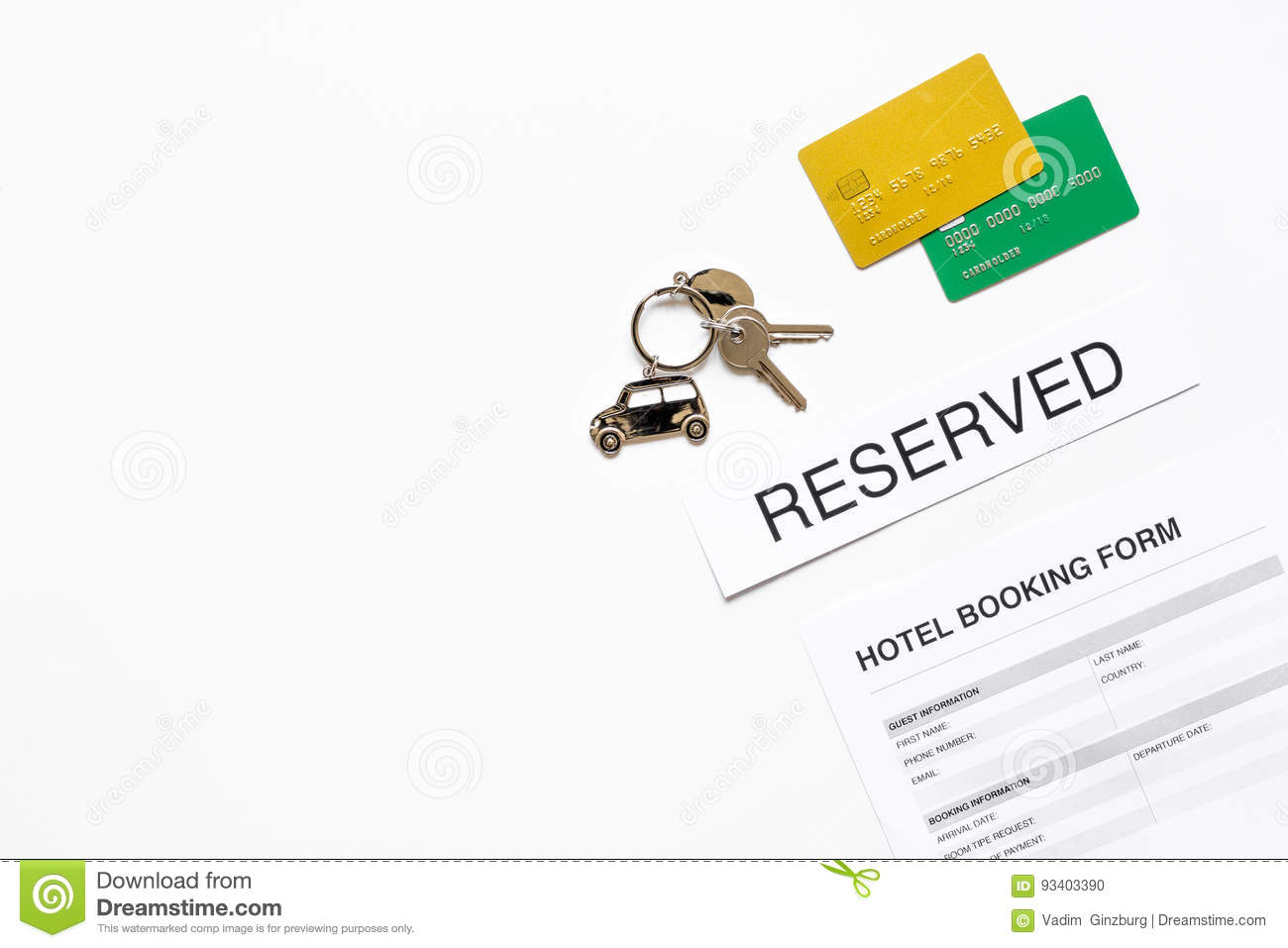 Booking form for hotel room reservation white background top view download booking form for hotel room reservation white background top view space for text stock photo thecheapjerseys Choice Image