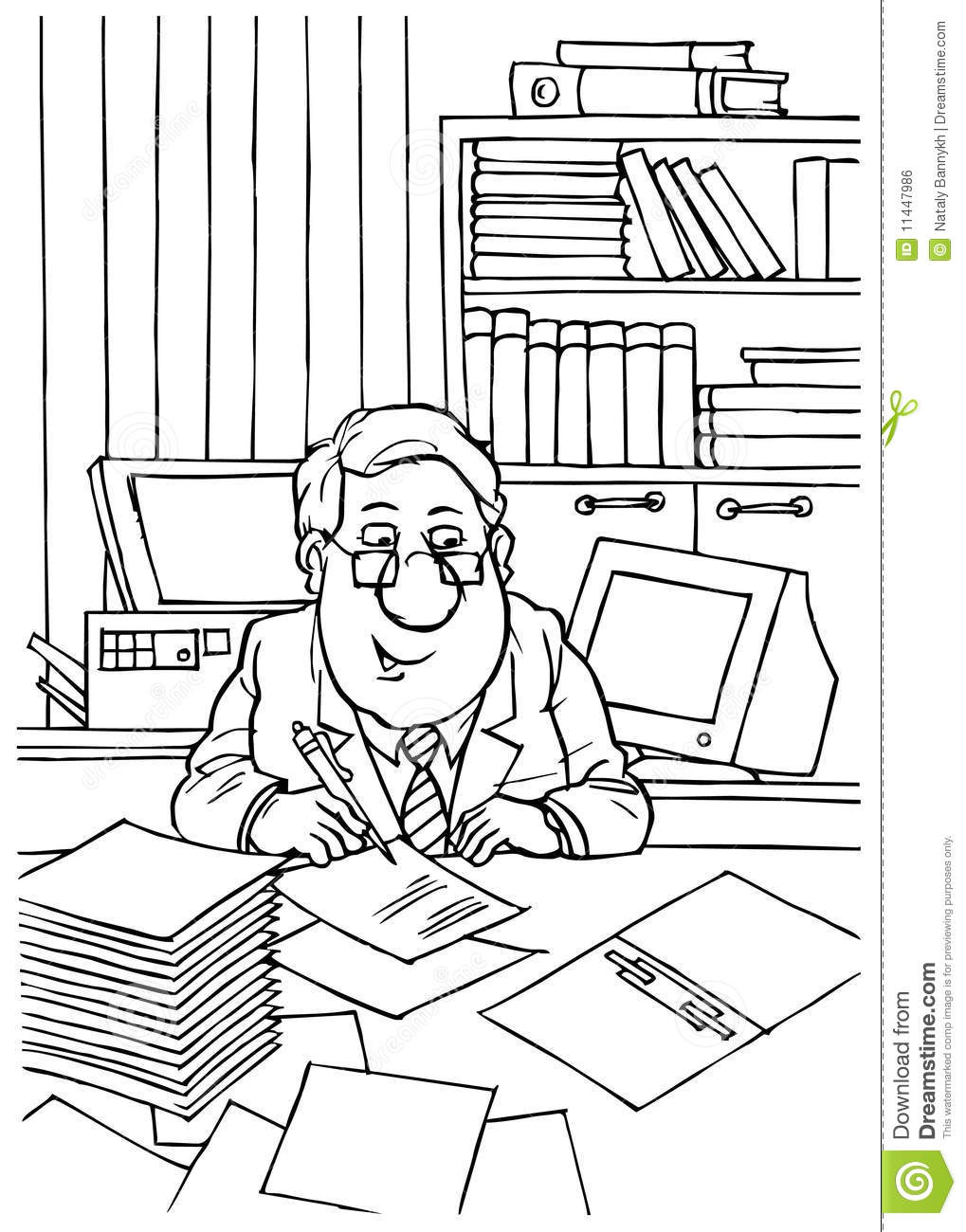 bookkeeper royalty free stock image