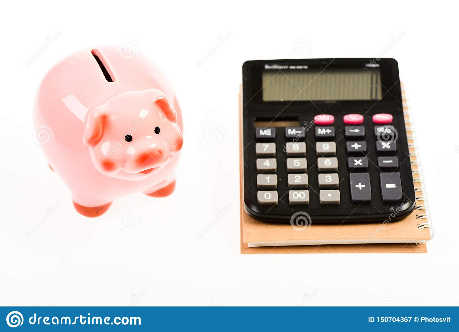 Bookkeeping. financial report. capital management. planning counting budget. Commerece business. moneybox with