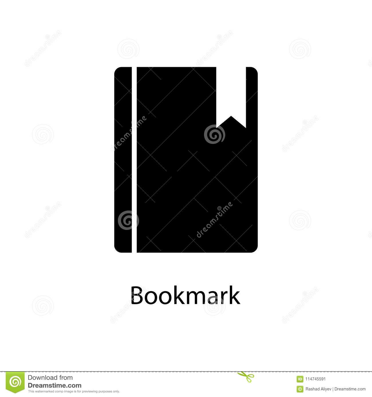 Bookmark In A Book Icon Element Of Minimalistic Icon For Mobile