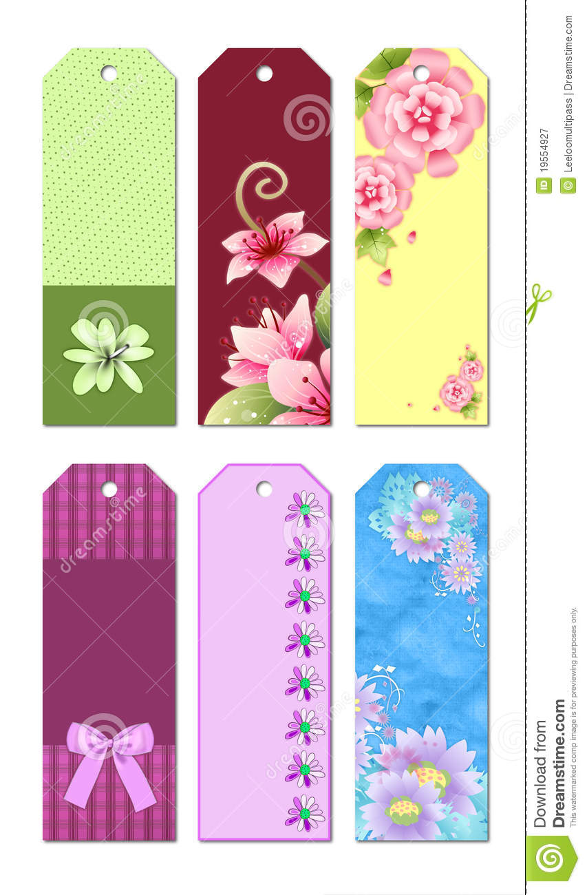 Bookmark designs stock illustration illustration of cute for Design a bookmark template