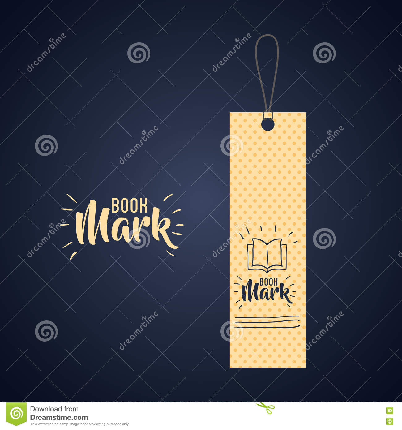 bookmark label tag design stock vector illustration of mark 78443030