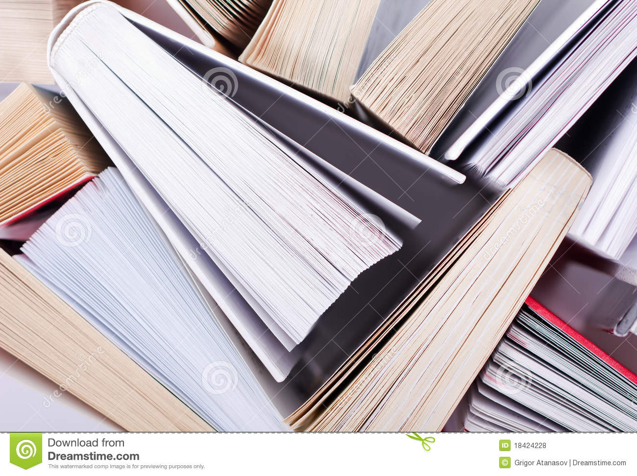 Download Books stock photo. Image of leisure, books, above, study - 18424228