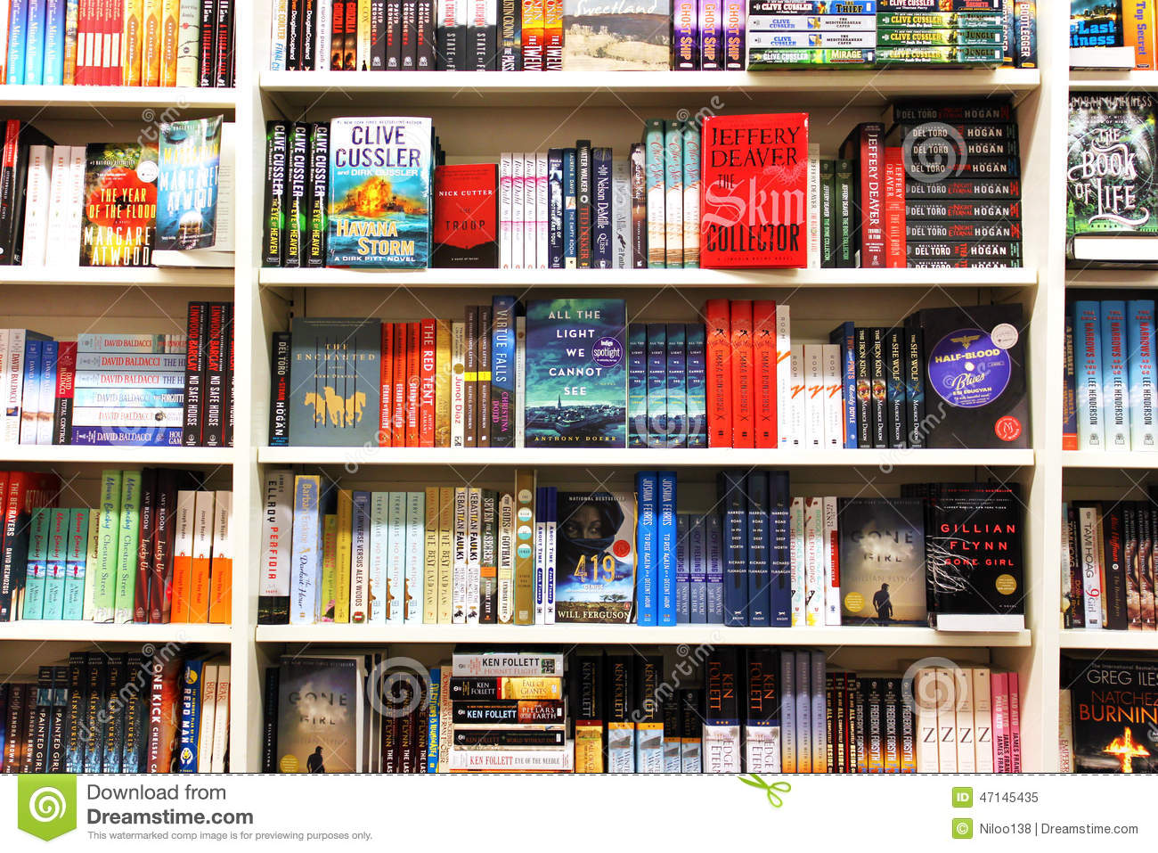 Books In Book Store Editorial Image Image Of Different 47145435
