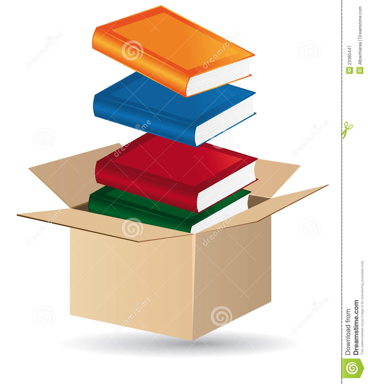 Books In A Box Royalty Free Stock Photography