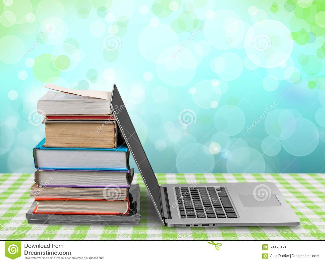 Books and Computer stock image  Image of books, background - 60967063
