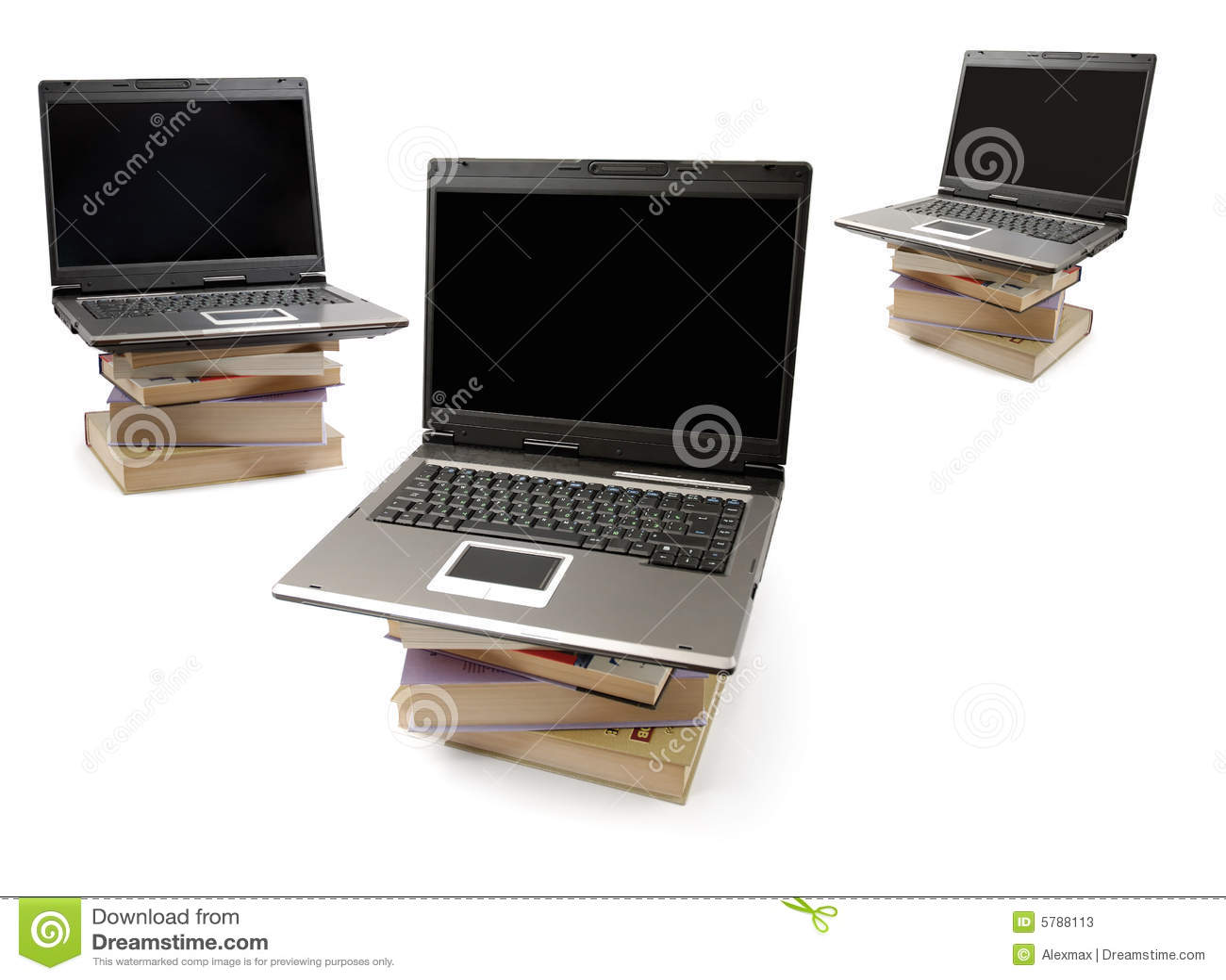 Books datorbärbar datorstaplar