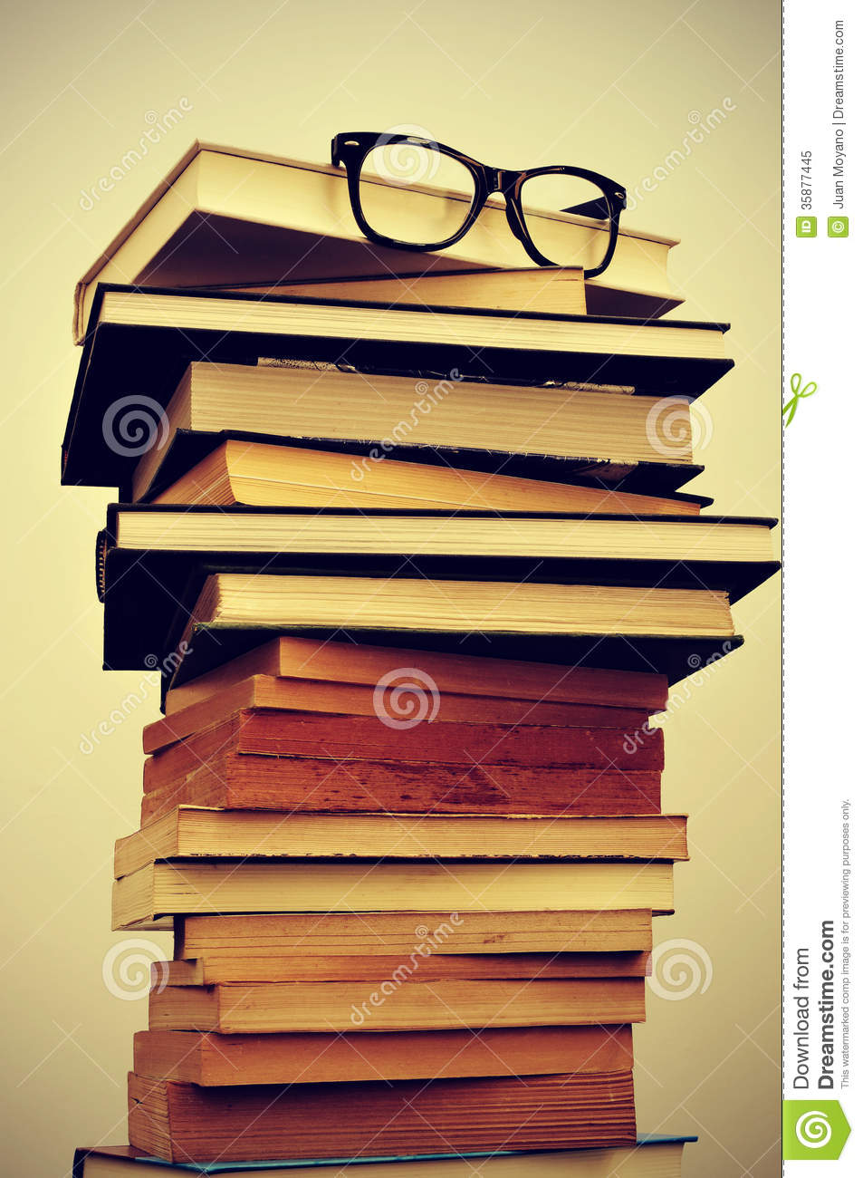 glasses on book - photo #11