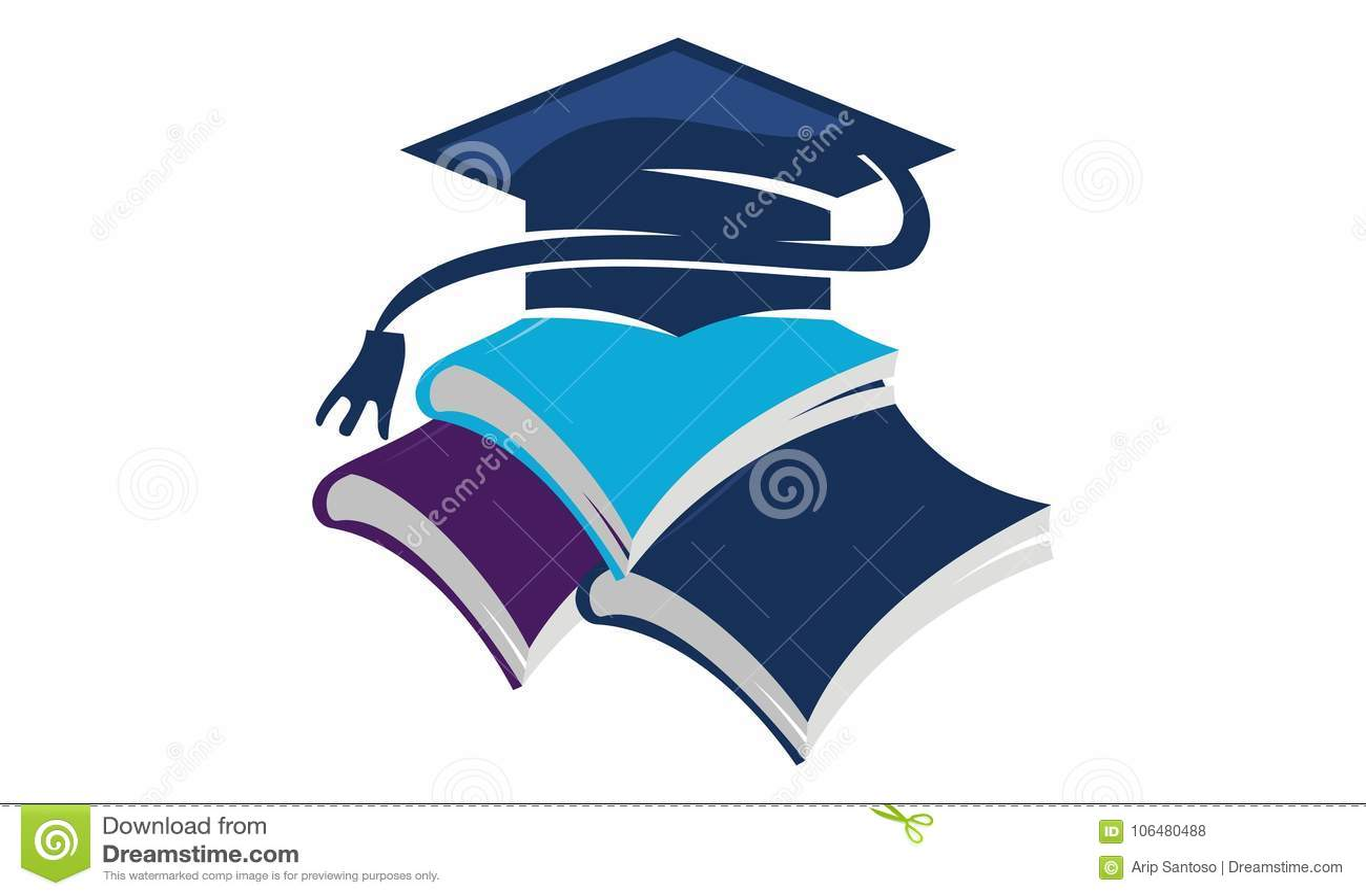 books graduation cap stock vector illustration of journal 106480488