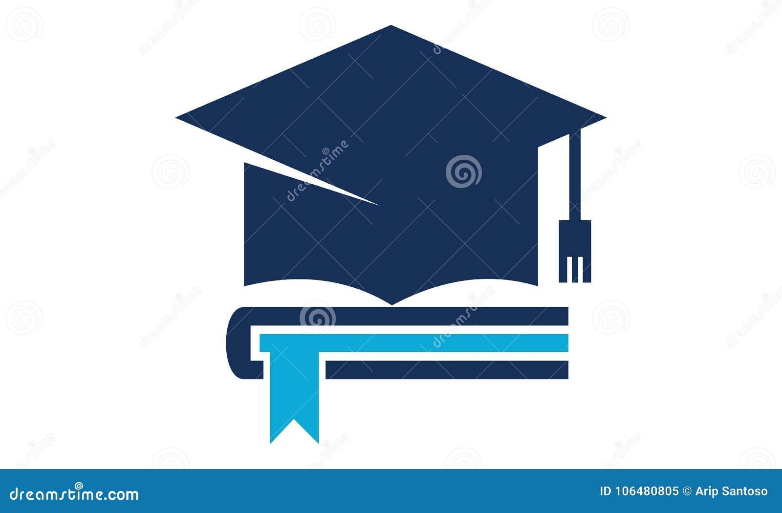 books graduation cap stock vector illustration of graduation