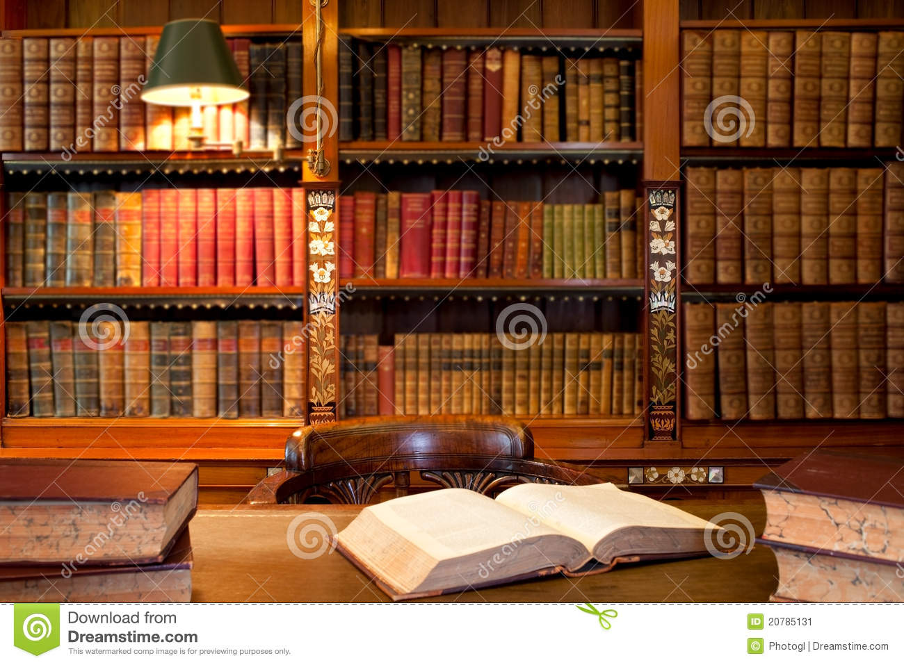 Download Books at the library stock image. Image of interior, chair - 20785131