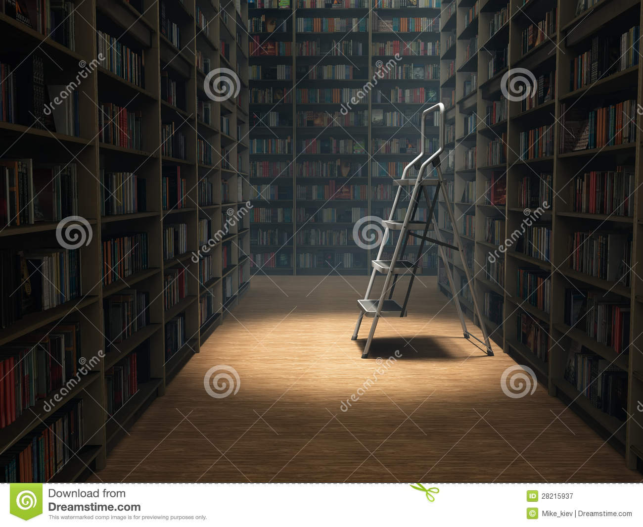 Download Books in library stock image. Image of education, shelf - 28215937