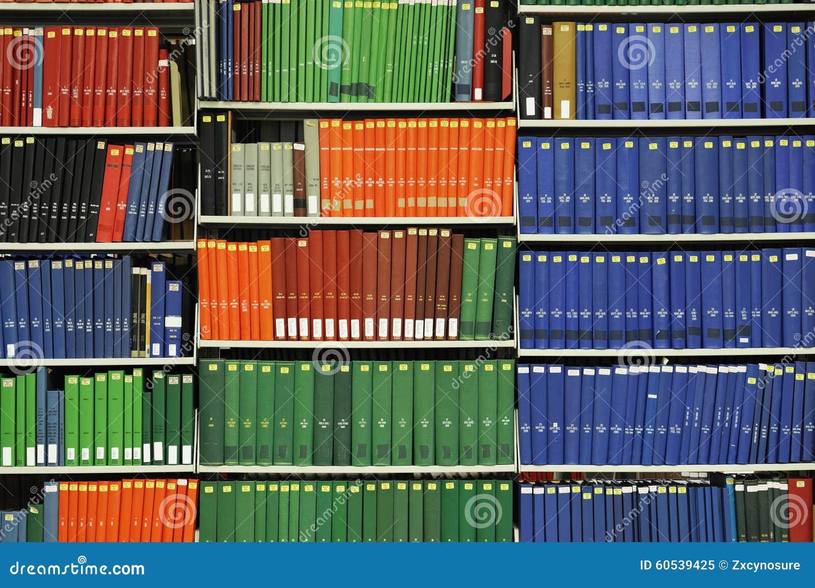 Books On Library Bookshelf Stock Image Image Of Bookcase 60539425