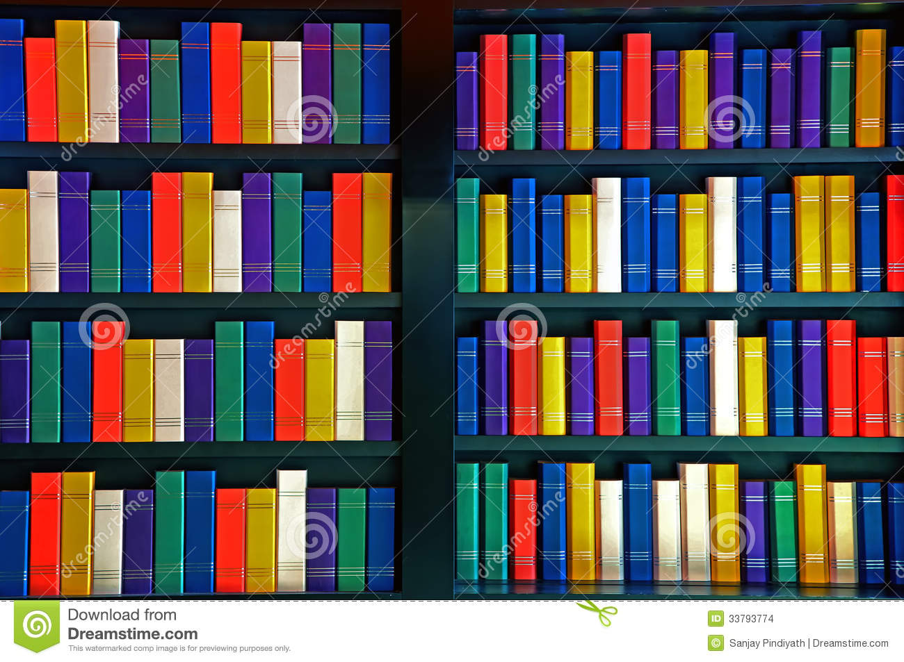 Books on library shelves stock images image 33793774 - Estantes para libros ...