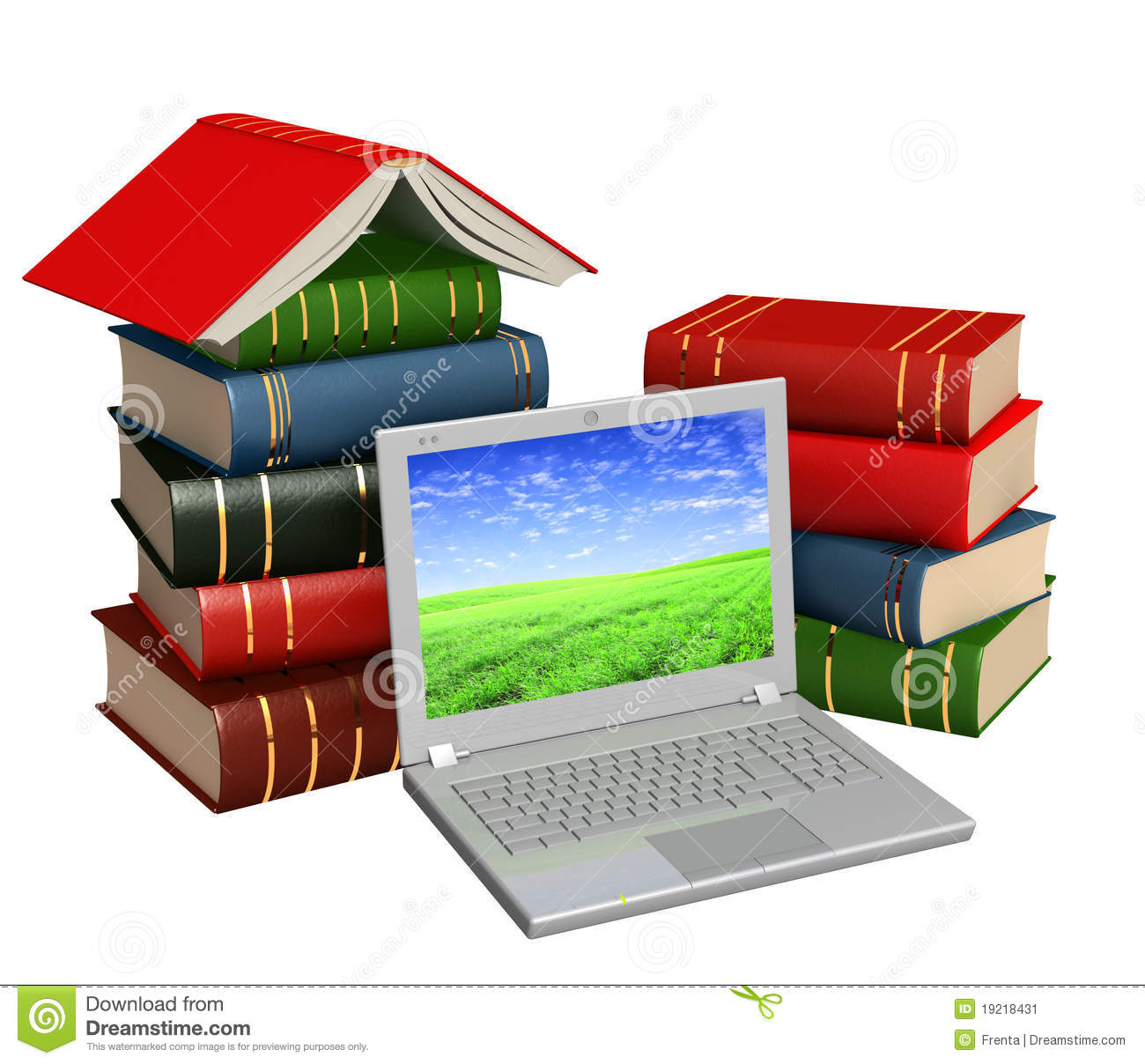 Books Online Stock Image Image 19218431