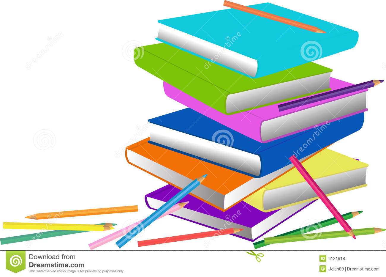 Books And Pencils Royalty Free Stock Photos - Image: 6131918