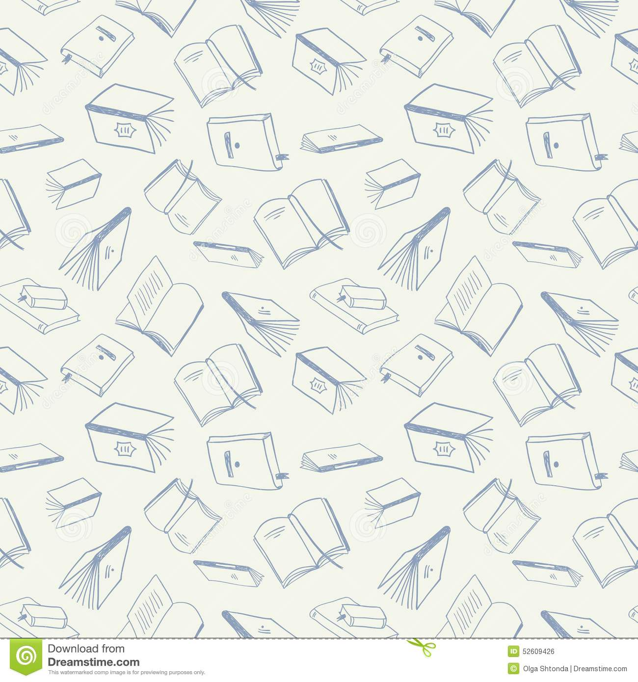 Book Cover Background Vector Free ~ Books seamless pattern stock vector image